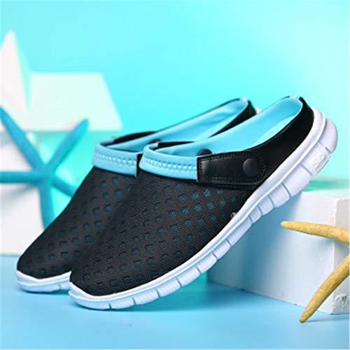 xiao-ao Neue Paare des Sommers greifen Breathable beiläufige Schuhart und weise rutschfeste haltbare Strandschuhe ineinander Patent Leather Cork Wedge Sandal