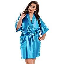 Nine X – Bata Kimono corta de satén tamaños S de 6 x L. Fabricado