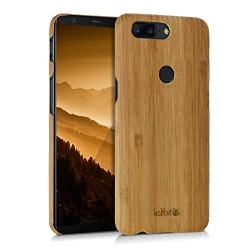 kalibri OnePlus 5T Hülle - Handy Holz Schutzhülle - Slim Cover Case Handyhülle für OnePlus 5T