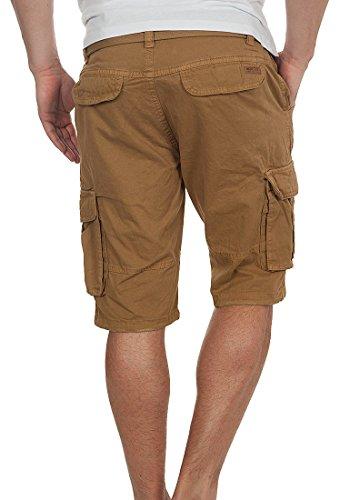 INDICODE Hamilton Herren Cargo-Shorts kurze Hose aus 100% Baumwolle Cumnin (014)