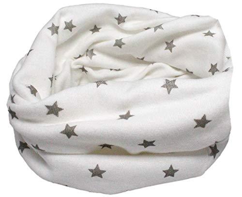 Enfant en coton multiusage Bandana Bonnet Tour de cou (Étincelles blanc)