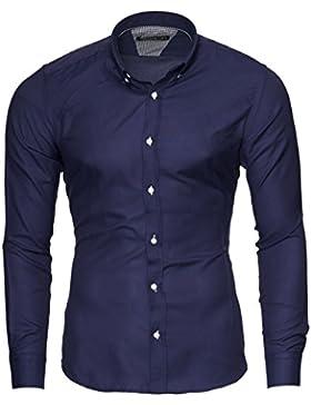 [Sponsorizzato]Merish Camicia Uomo, Slim Fit Camicia Manica Lunga, premuto Il Pulsante Oxford, Adatto per Tutte Le Occasioni,...