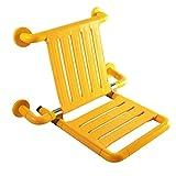 GUOHONG-CX Edelstahl Fold up Dusche Wand Hocker Schuh Bank Wand Stuhl Bad Stuhl Rückenlehne Behinderte ältere Schwangere Frau,Yellow