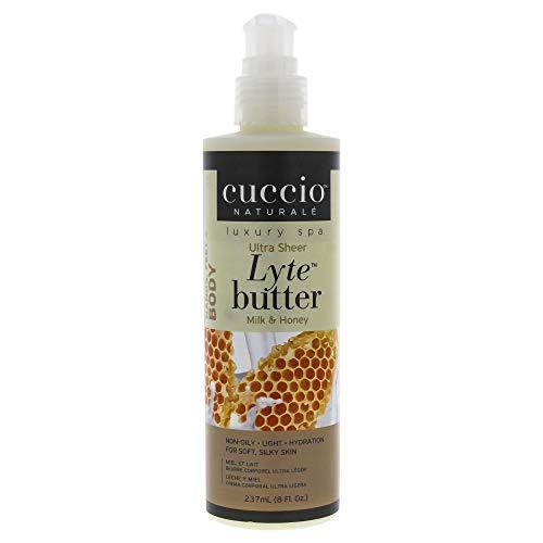 Cuccio Naturale - Lyte Ultra Sheer Body Butter mit Honig und Soja-Milch 237ml -