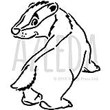 Azeeda A5 'Baby-Dachs' Wandschablone / Vorlage (WS00014174)