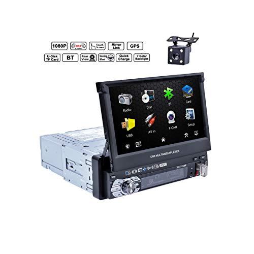 Reakosound Reproductor MP5 7 pulgadas Radio de Coche con Pantalla Táctil Bluetooth...