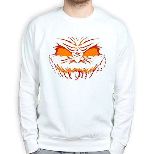 MensHalloweenMonsterScareCrowFaceMaskCostumeSweatshirtWHT L (Monster Costums High)