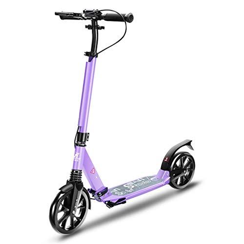 SCOOTERYW Roller Zweirad Erwachsener Schritt für Schritt zusammenklappbarer Campus-Werkzeugroller (Color : B)