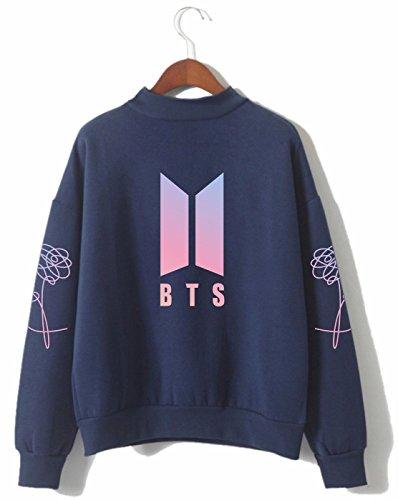 SERAPHY Unisex BTS Kapuzenpullover Bangtan Boys Love Yourself BTS Rollkragen Sweatshirts für Armee Suga Jimin Jin Jung Jook J-Hope Rap-Monster V königlich-P 4XL
