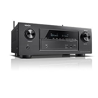 Denon AVRX2400H 7.2 Surround AV-Receiver (HEOS Integration, Dolby Vision Kompatibilität, Dolby Atmos, dtsX, WLAN, Bluetooth, Amazon Music, Spotify Connect, HDMI Eingänge, 7x 150 W) schwarz