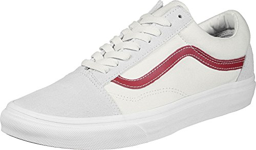 Vans Damen Old Skool Sneakers Elfenbein (Vintage White/rococco Red R1t)