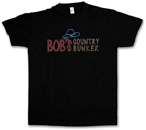 Urban Backwoods Bob's Country Bunker T-Shirt – Taglie S – 5XL Nero