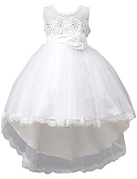Abito da Sposa Ragazze Abito Elegante da Bambina Tutu Vestito per Matrimoni Feste Cocktail Bianca 2-3 anni Bianca...