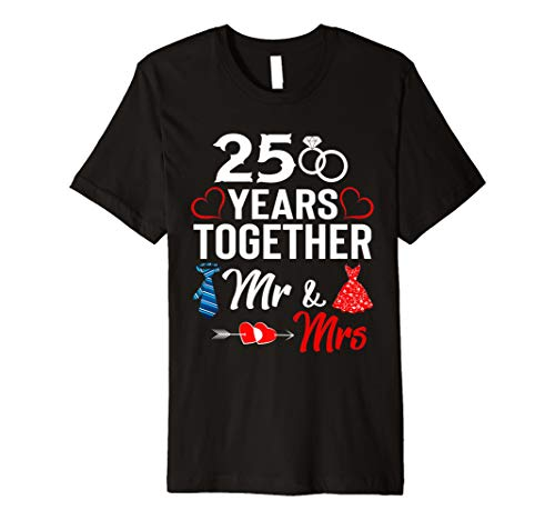 25th Wedding Anniversary Gift For Her and Him Couples Shirt