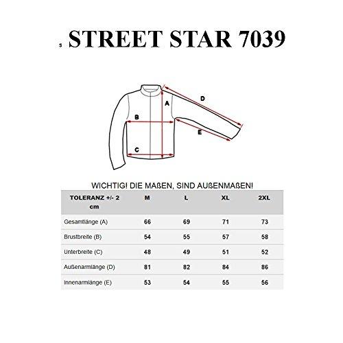 BOLF Herren Longsleeve Figurbetont Langarm STREET STAR MIX Anthrazit_7039