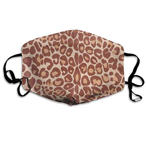 Brown Animal Print Anti Pollution Respirator Dust Mask Cotton Reusable Face Mouth Mask Fashion for Men Women ()