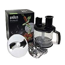 Braun MQ70 Accessorio Robot da Cucina All-in-One per Minipimer MultiQuick 5, 7, 9, Senza Filo