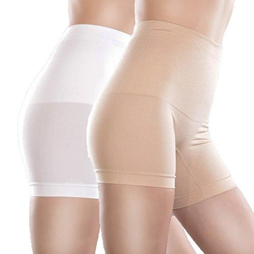 Libella Pantys pantalones faja de mujer que realzan tu figura con efectos vientre plano 3605 Beige+Blanco M/L
