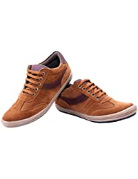 Da-Dhichi Men's Tan Colour Leather Casual Shoe CH-4225