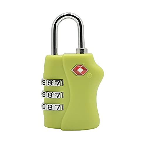 Grenhaven TSA-Compatible Travel Lock for Luggage - Combination Lock for Suitcase - Security Padlock (Transportation Security