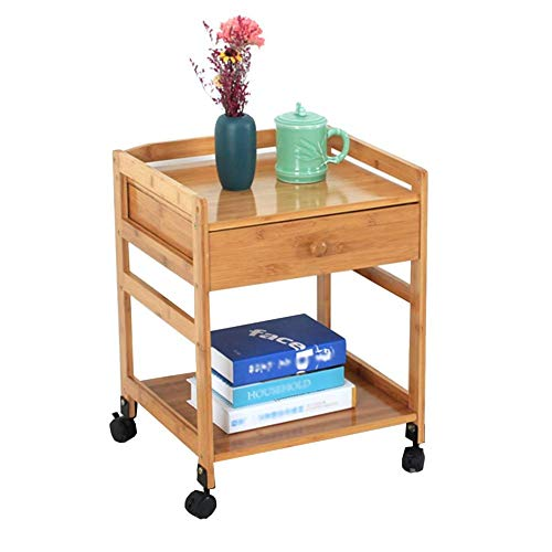 HYLH Side Table Desk End Bedside Snack Coffee Bistro Lockers with Wooden Drawer Accommodating The Movable (Color : Single Drawer, Size : 42 * 38 * 55cm) -