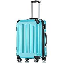 BEIBYE Hartschalen Koffer Trolley Rollkoffer Reisekoffer 4 Zwillingsrollen