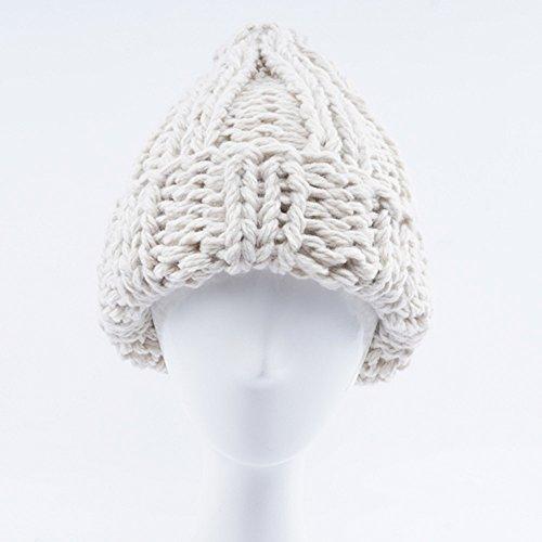 Zottom Damenmode warm halten manuelle Wolle gestrickte Ohrenschützer Hüte Mädchen Caps (Kostüm Perücken San Francisco)
