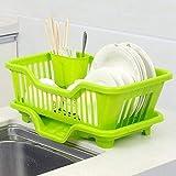 Latiq Mart Plastic Kitchen Sink Dish Drainer Drying Rack Washing Holder Basket, Random