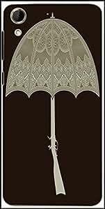 Snoogg Umbrella Gun 2495 Designer Protective Back Case Cover For HTC Desire 728