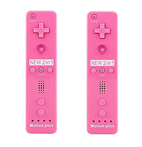 SIBIONO Wii Remote Motion Plus Controller (2 Packungen) für Nintendo Wii & Wii U Videospiel-Gamepads. Pink Rose (Plus Pink Remote Wii)