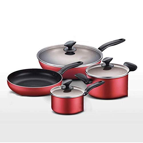 AA-Cookware set CHJTC Küchengeschirr-Antihaft-Pan-Kombination Wok-Bratpfanne Suppentopf Milchtopf Licht Rauchpfanne