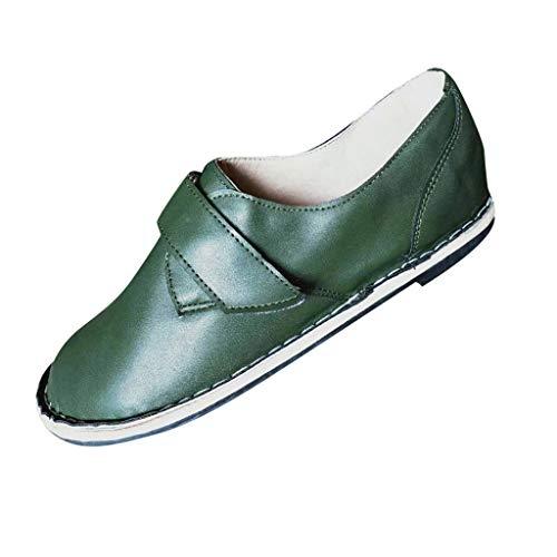 ღEaylis Damen GüRtelschnalle Flache Sohle Schuhe Runden Kopf Freizeitschuhe Sandalen