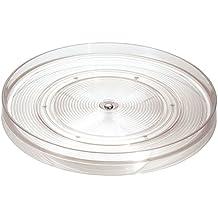InterDesign Linus Organizer Cucina, Centrotavola Girevole Di Medie Dimensioni In Plastica, Trasparente