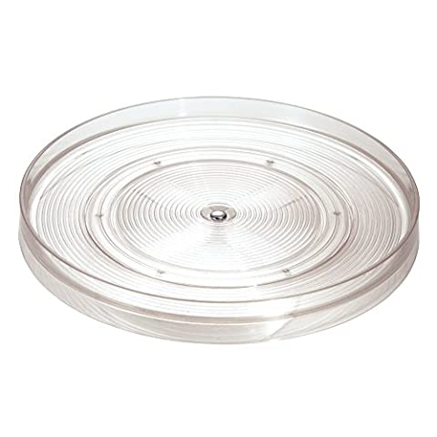 InterDesign Linus Kitchen Pantry or Cabinet 11-inch Lazysusan Turntable, Clear