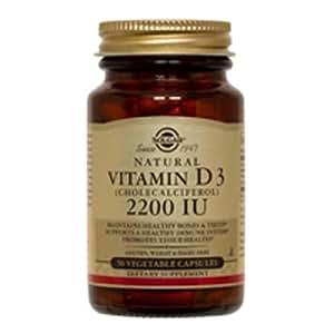 Solgar, Vitamin D3 (Cholecalciferol) 2200 IU, 100 Vegetable Capsules