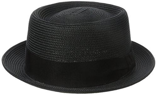 Bailey Waits Porkpie Hat, Noir (Black), Large Homme