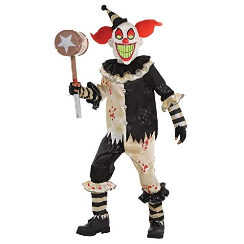 Amscan Zirkusalptraum - Halloween Horror Clown Kostüm Kinder - Jungen Killer Clown Kostüm