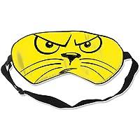 Natural Silk Eyes Mask Sleep Angry Cat Blindfold Eyeshade with Adjustable for Travel,Nap,Meditation,Sleeping,Shift... preisvergleich bei billige-tabletten.eu