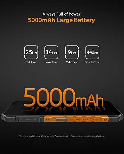Ulefone Armor X5, 4G Móvil Antigolpes, MTK6763 Octa-Core 3GB RAM 32GB ROM, Android 9.0 5.5 'IP68 Impermeable Moviles Todoterreno, Dual SIM, 5000mAh Batería, Desbloqueo