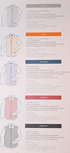 Michaelax-Fashion-Trade -  Camicia classiche  - Basic - Con bottoni  - Maniche lunghe  - Uomo Karo blau/weiß (19)
