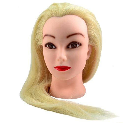 Neverland 70% Vrais Cheveux Long coiffure Artificiel Têtes d'exercice Coiffure Mannequin Neuf