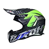 WZFC Crosshelm Motocross Enduro Downhill Helm Motorradhelm Integralhelm (Model-Airoh),Black,M
