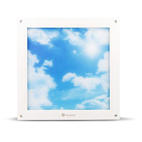 LED-Deckenplatte beleuchtet Quadrat 30x30, 18W 6500K 1200lm, Awenia Lighting kaltweiss ultra dünne Gitter-flache Deckenleuchte für Schlafzimmer Küche Wohnzimmer Esszimmer Balkon Flur