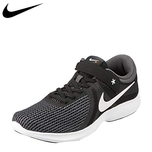 NIKE Men's Revolution 4 Flyease Black/White-Anthracite Running Shoes(AA1729-001)