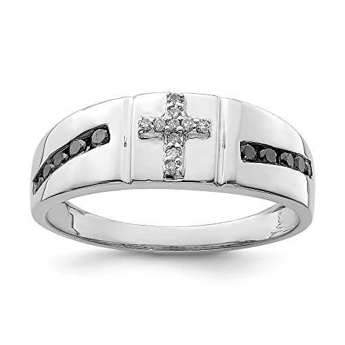 Diamond2Deal  -  Sterling-Silber 925 Sterling-Silber Rund Black Diamant