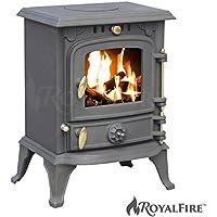 Royal FireTM Poêle en fonte pour poêle à bois et charbon
