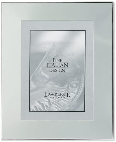 Lawrence Frames argento Plated by 8 by Plated 10 Metal Picture Frame, Wide Border Engraveable by Lawrence Frames 691260