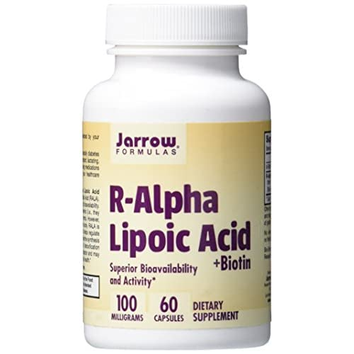 41ZkmYhZk0L. SS500  - Jarrow Formulas Jarrow R-Alpha Lipoic Acid with Biotin (100mg, 60 Capsules), 1 Units
