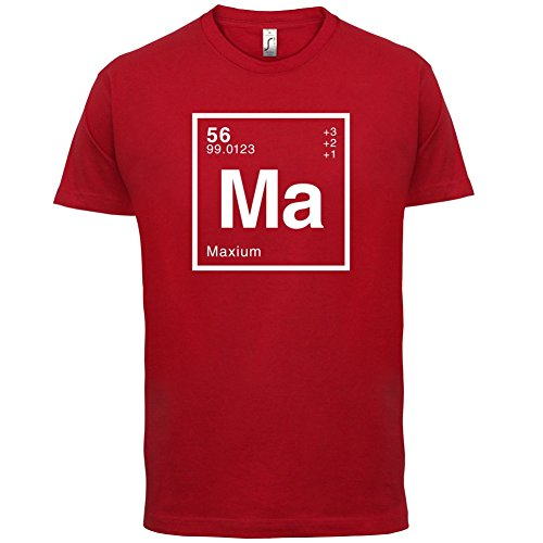 Max Periodensystem - Herren T-Shirt - 13 Farben Rot