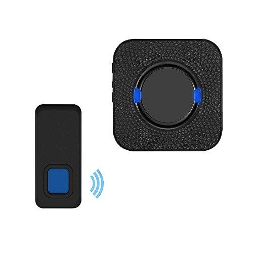 MUTANG Wireless Türklingel wasserdicht Tür Gongsatz mit 1 Plug-in Empfänger & 1 Taste 300m elektrische Türklingel 5 Level Volumen